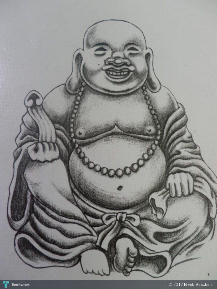 laughing buddha drawing - photo #2