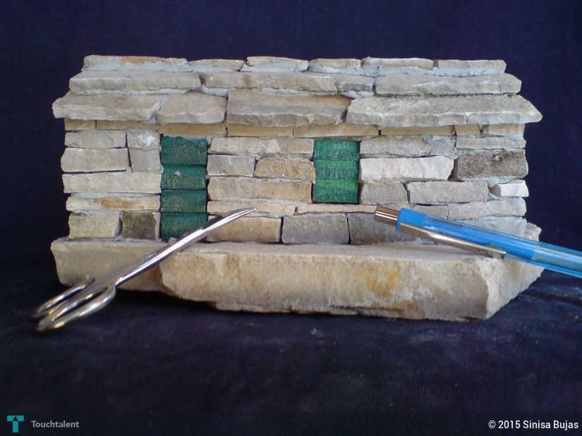 miniature stone house   crafts sinisa bujas touchtalent