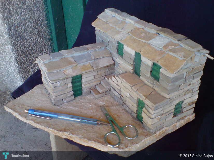 miniature stone house stairs 02 2   crafts sinisa bujas