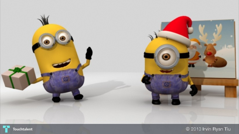 minion christmas animationwip in animation by irvin ryan tiu - Minion Christmas