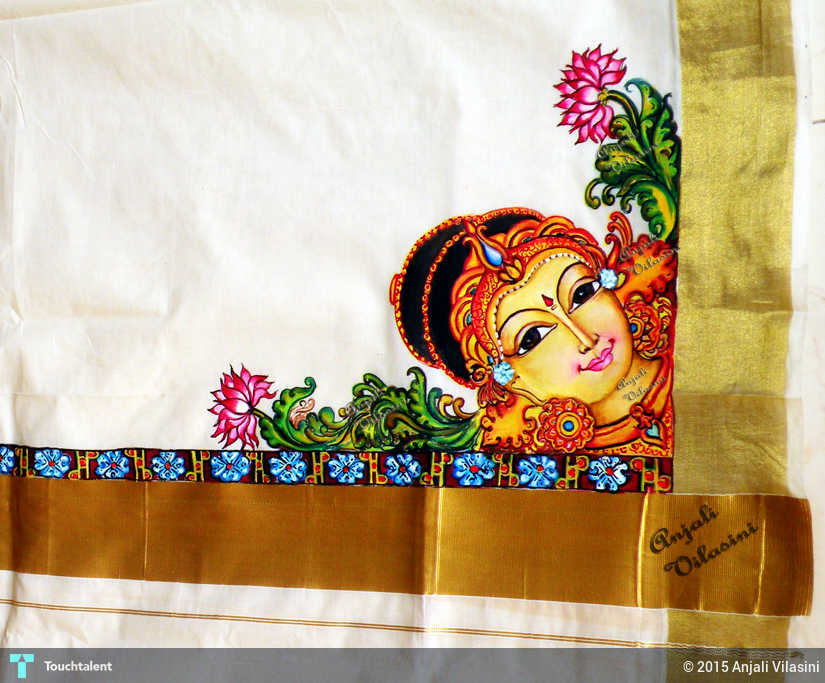 Kerala Mural Painting On Fabric | www.imgarcade.com - Online Image ...