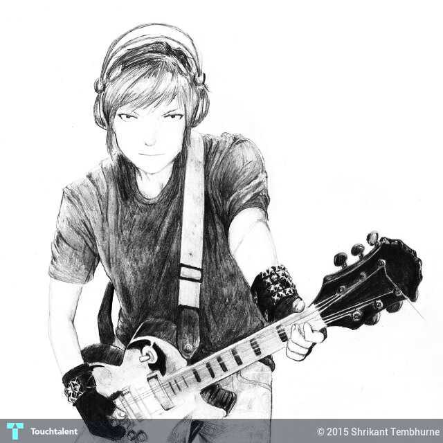 music and guitar sketching shrikant tembhurne touchtalent