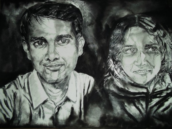 my sister and my brother in law... - Sketching by Abhrodeep Mukherjee at touchtalent 697