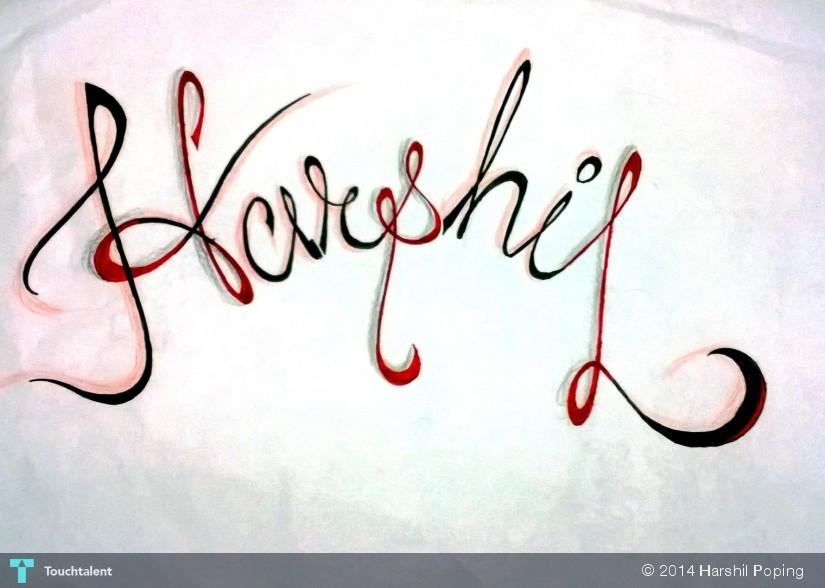 Myh Name - Calligraphy | Harshil Poping | Touchtalent