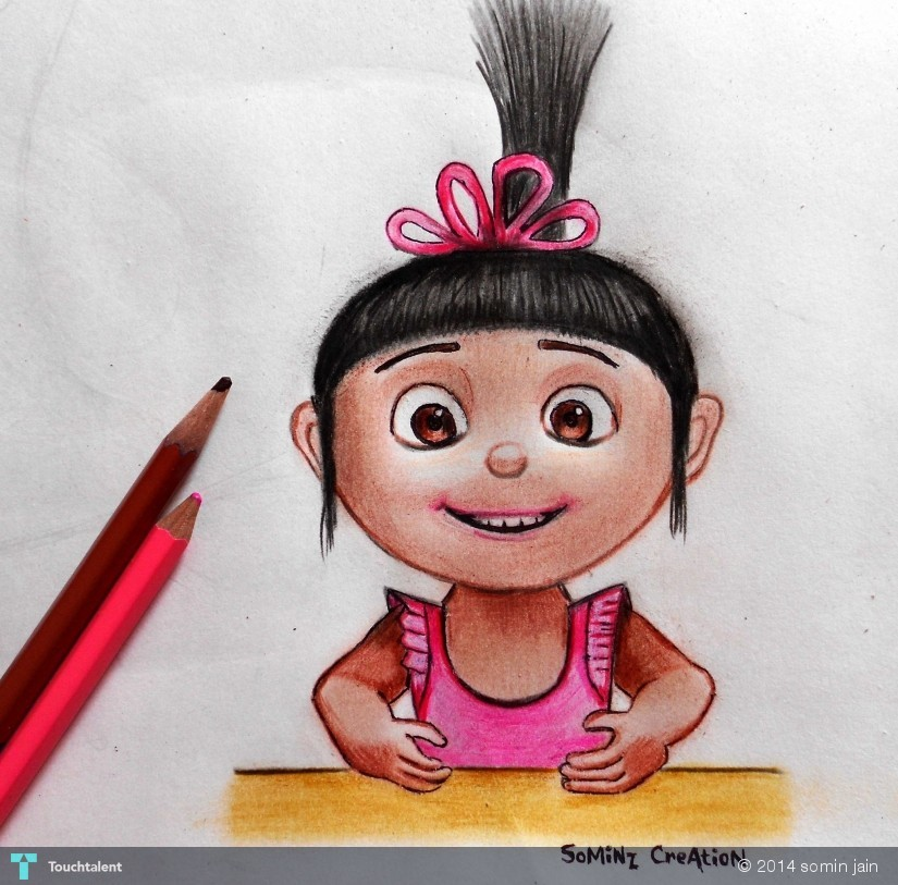 pencil color drawing in sketching by somin jain