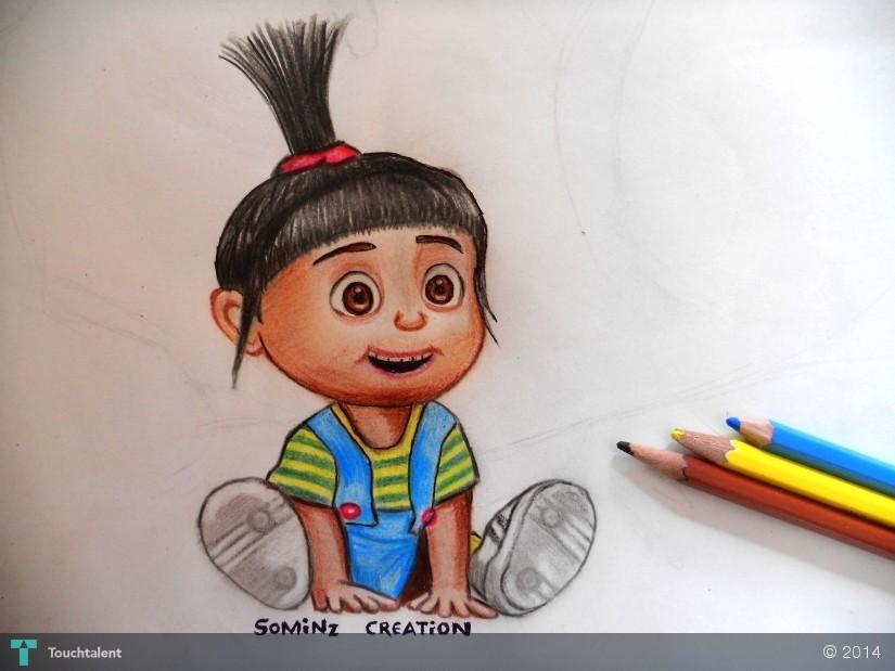 pencil color drawing in sketching by somin jain - Color Drawing Pictures