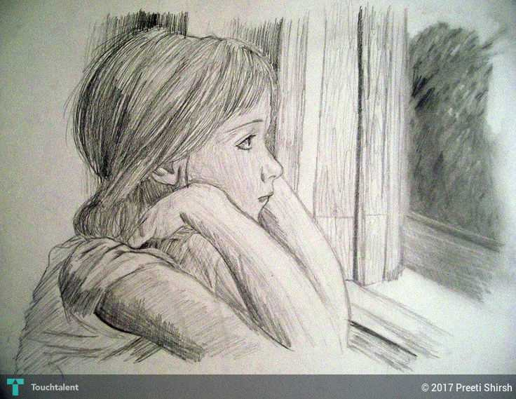 Sad Girl Sketching Preeti Shirsh Touchtalent