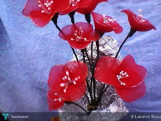 Stocking Flowers - Crafts | Lekshmi Sadu | Touchtalent