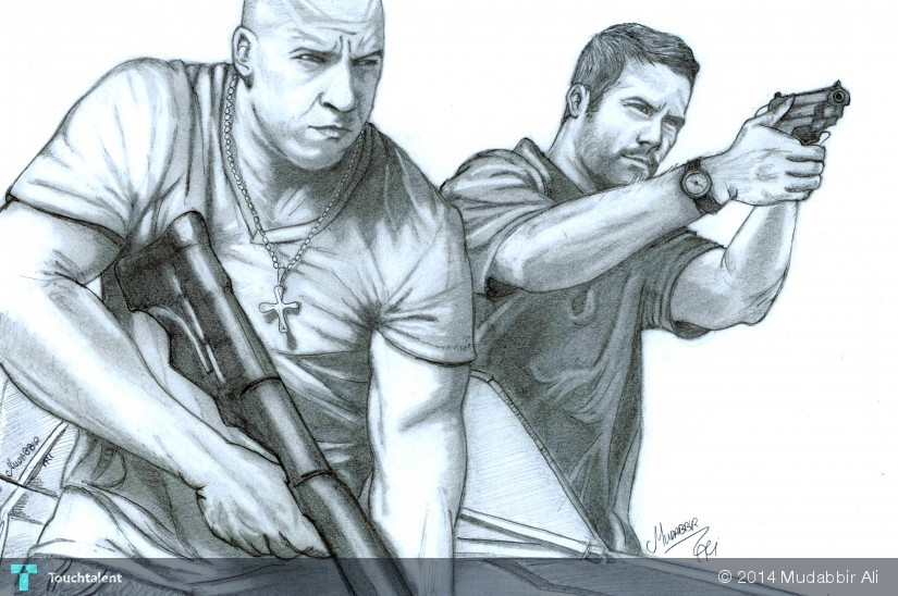 Vin Diesel And Paul Walker In Fast And Furious Touchtalent For