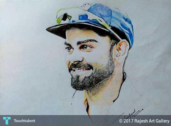 Virat Kohli Pencil Sketch Touchtalent For Everything
