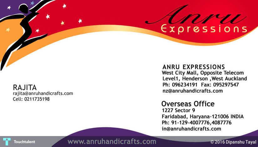 Graphic designer dipanshu tayal india touchtalent for visiting card design in design by graphic designer dipanshu tayal reheart Images
