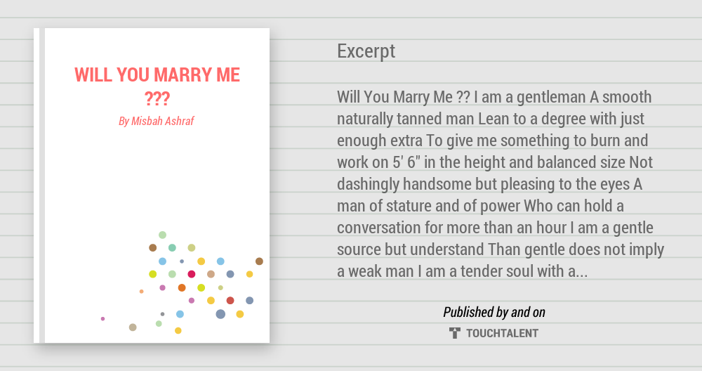 The gallery for --> Will You Marry Me Poems For Her