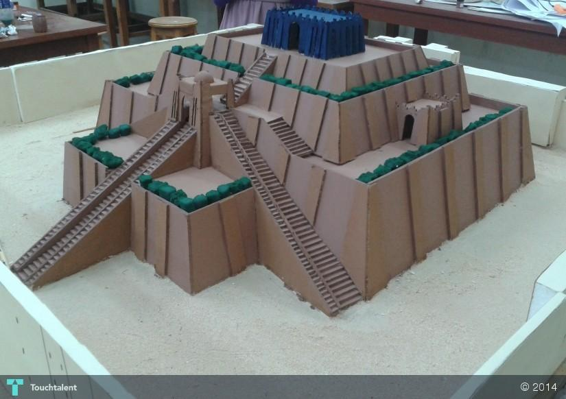 Ziggurat Model By My Group After Painting In Crafts Mohamed Yasser